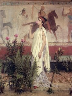 Sir Lawrence Alma-Tadema A Greek Woman print for sale. Shop for Sir Lawrence Alma-Tadema A Greek Woman painting and frame at discount price, ships in 24 hours. Lawrence Alma Tadema, Irish Art, Dutch Painters, Pre Raphaelite, Victorian Art, Classical Art, Art Graphique, Ancient Greece, Beautiful Paintings