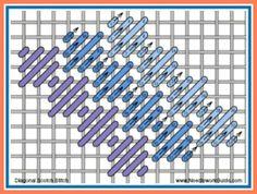Diagonal Scotch Stitch  #NeedlepointStitch