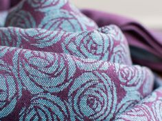 Roses Capulet Wrap Verona's summer hath not such a flower...deep purple cotton warp with robins egg lambswool and cotton weft. 30% lambswool...
