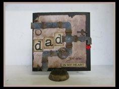 Vaderdag kaart, Card for Daddy, Tim Holtz, Pentart