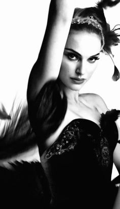 Natalie Portman as The Black Swan.
