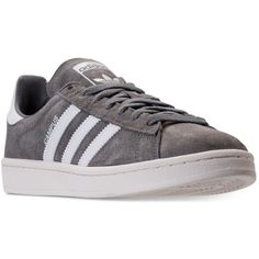 adidas Men's Campus Casual Sneakers from Finish Line ($80) ❤ liked on Polyvore featuring men's fashion, men's shoes, men's sneakers, mens retro shoes, mens leather sneakers, mens leather shoes, 80s mens shoes and mens retro sneakers