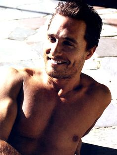 Matthew McConaughey.. yes he goes in my wedding board because he'll be the man i marry :)