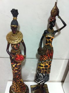 africanas gesso | Daniele Machado | Elo7