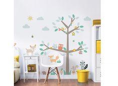 Walltastic Woodland Wall Stickers - Tree & Animals Baby Nursery Room Decoration for sale online