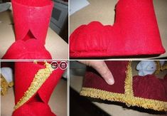 Do it yourself ideas and projects: How to DIY Festive Santa Boots Out of Plastic Bottle Crochet Christmas Gifts, Christmas Gnome, Christmas Scenes, Kids Christmas, Christmas Decorations Australian, Diy Christmas Decorations Easy, Christmas Crafts, Christmas Ornaments, Plastic Bottle Crafts