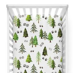 Choose from a variety of trendy woodland crib bedding & accessories for boy or girl! Create the perfect woodland or deer inspired nursery with our fun prints. Baby Boy Rooms, Baby Boy Nurseries, Forest Baby Rooms, Baby Bedroom, Kids Rooms, Nursery Crib, Cabin Nursery, Nursery Twins, Rustic Nursery