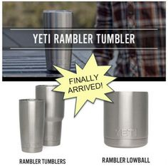 We are soooo excited!  #YetiRambler and #YetiTumblers have been SOLD OUT for 6 weeks!  Just received our shipment!  Perfect for #ValentinesDay #gift.  Get yours while they last!  #WalkOnWaterBoutiques #LakeMary #WinterPark