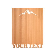 Large Personalized Cutting Board - Mountains
