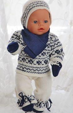 Norwegian sweater knitting patterns for 18 american girl dolls Knitted Doll Patterns, Sweater Knitting Patterns, Knitted Dolls, Doll Clothes Patterns, Clothing Patterns, Baby Born Clothes, Girl Doll Clothes, Girl Dolls, Baby Dolls