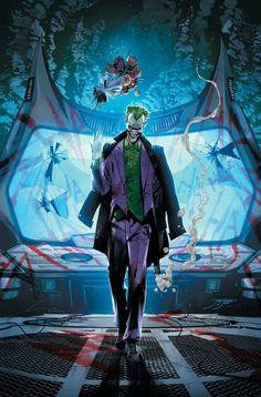 Batman - The Joker by Jorge Jimenez, colours by Tomeu Morey * Joker Dc Comics, Dc Comics Art, Anime Comics, Batman Universe, Dc Universe, Marvel E Dc, Joker Art, Joker And Harley, Harley Quinn