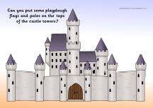 Castles playdough mats