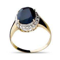 Anel de Ouro 18K com Safira Azul
