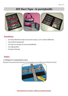 Tuto Duct Tape : le portefeuille