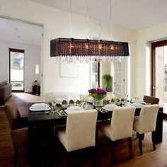 Modern Crystal Chandelier Ceiling Lamp Pendant Lighting Hanging For Dining Room