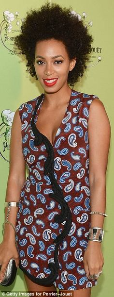 Solange Knowles attends Perrier-Jouet celebrates Michael Kalish's Belle Epoque Sculpture on June 11, 2012 in New York City