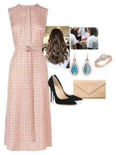 """""""Visiting a Women's Shelter"""" by crownprincess-eponine on Polyvore featuring L.K.Bennett, Irene Neuwirth, Carré Royal, Jimmy Choo, royalstyle, crownprincess and royalfashion"""