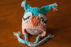 CROCHET PATTERN  Sleepy Owl Beanie by sweetdecemberhats on Etsy, $3.50