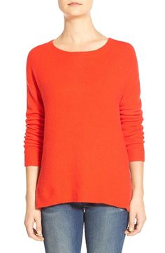 Caslon® Back Zip High/Low Sweater (Regular & Petite) available at #Nordstrom