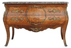 commode de style Louis XV marbre brèche bronze doré XIXème [2800,00€]