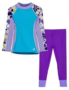 Shoreline Rash Guard Sunset Purple with Swim Legging Agata Conservative Swimsuit, Children's Swimwear, Swimsuits, Christmas Gifts For Girls, Muslim Fashion, Rash Guard, Wetsuit, Swimming, Sunset