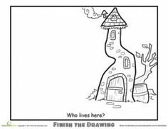 the Drawing: Who Lives Here? Lots of different worksheets available on Education . Could use some of the Finish the Drawing worksheets for Sketchbook prompts. ie: Who Lives Here?Lives Lives may refer to: Finish The Drawing Worksheets, Art Worksheets, Coloring Worksheets, Fun Worksheets For Kids, Drawing For Kids, Art For Kids, Drawing Ideas, Drawing Tips, Sketchbook Prompts