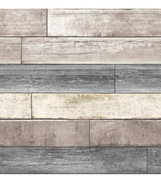 WallPops� NuWallpaper� Reclaimed Plank Wood Peel -- JoAnn's craft store --not liking this one as much; not as authentic looking