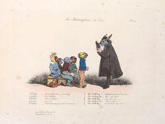 J. J. Grandville (1803-1847), Les Métamorphoses du jour, Paris: Chez Bulla, 1829 The Morgan Library & Museum, New York, Bequest of Gordon N. Ray, 1987 Photography: Graham S. Haber, 2011.