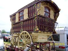 Appleby 2007 gypsy bowtop caravan horse fair. Why don't I have a caravan already?