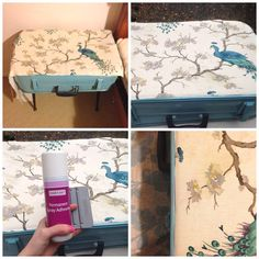 DIY Decor: Ingenious Ways to Upcycle Old Suitcases in Style Vintage Suitcase Table, Suitcase Decor, Suitcase Packing Tips, Groomsmen Grey, Neck Designs For Suits, Vintage Suitcases, Diy Table, Diy Tutorial, Upcycle