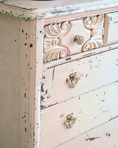 shabby pink dresser
