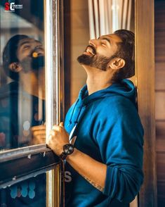Let them laugh at your Dreams, You'll Laugh forever. Medium Beard Styles, Short Curly Styles, Hair And Beard Styles, Portrait Photography Men, Fashion Photography Poses, Actor Picture, Actor Photo, Parmish Verma Beard, Men Photoshoot