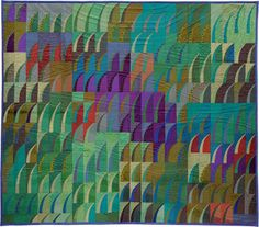 """""""Grassland"""" by Mikiko Misawa (Kumamoto, Japan).  Contemporary quilt award, 11th annual Quilt Nihon Exhibition"""