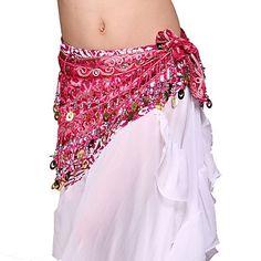 Suorituskyky Dancewear Tulle paljeteilla Belly Dance Belt For Ladies Lisää värejä – USD $ 24.99