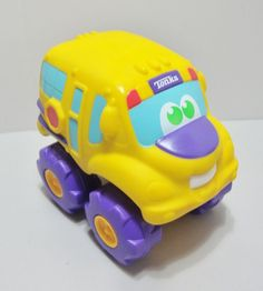 "Hasbro Tonka Large Soft Body School Bus Toy Engine Sound 8"" Tall Yellow #HasbroTonka"