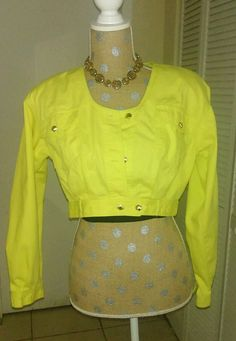 Hey, I found this really awesome Etsy listing at https://www.etsy.com/listing/242283788/vintage-80s-mexx-neon-yellow-denim