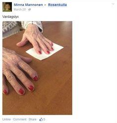 Konseptin toteutus lähti heti innolla käyntiin Rosenkullassa - Hemmotteluaktiviteetit ja bloggaaminen olivat osa konseptia. Poiminta Rosenkullan Facebook ryhmän postauksista, postaaja Rosenkullan hoitaja Minna Mannonen.