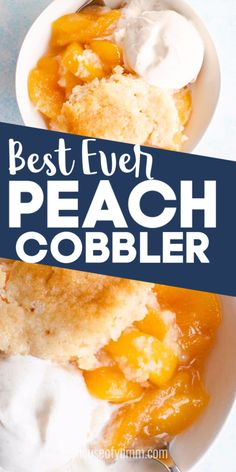 Good Peach Cobbler Recipe, Gluten Free Peach Cobbler, Homemade Peach Cobbler, Easy Southern Peach Cobbler Recipe, Healthy Peach Cobbler, Best Peach Cobbler, Dessert Simple, Bon Dessert, Southern Desserts