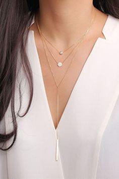 Diamond pave circle pendant necklace / sterling silver by CMYGIRL