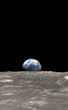 Earth rise on the Moon On December 24, 1968