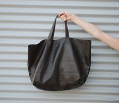 Leather Shopping Tote - Large. $100.00, via Etsy.