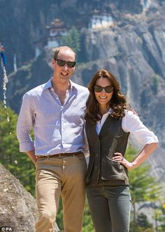 Easy does it: The Duchess looked cool and composed while the Duke was rather flushed and breathing a little heavier