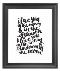 Love Declaration Art Print ==