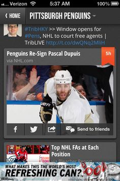 RW pascal dupuis resigns with Pens!!! 4 more years!