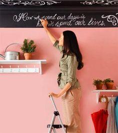 Chalk board wall ideas :)