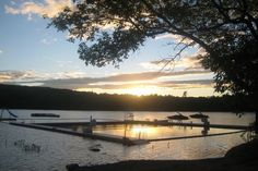 A gorgeous sunset at Camp Caribou, a boys #summercamp in Winslow, #Maine