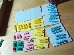 multiplication avec la Table de Pythagore et Montessori