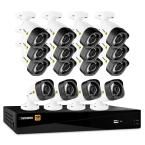 Defender 16-Channel HD 1080p 2TB DVR Security System and 16 Bullet Cameras with Web and Mobile Viewing