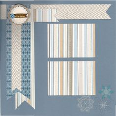2 page Scrapbooking Layout Kit Welcome Winter by CropALatteToGo, $10.00