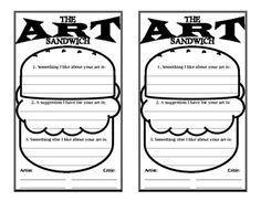 Worksheet Art Critique Worksheet pinterest marketing keep in and artworks on pinterest